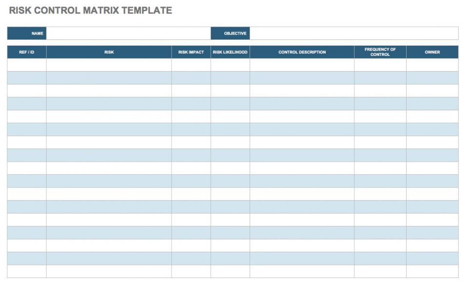 Free Risk Assessment Matrix Templates  Smartsheet  Ume Rubab