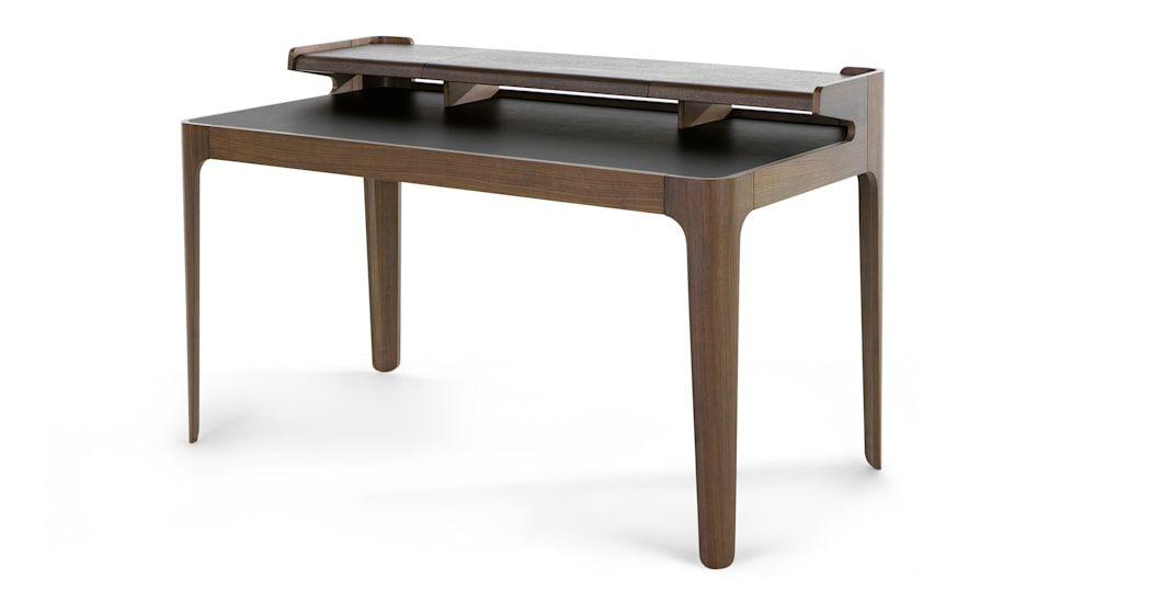Zeke Desk Walnut And Black Schreibtisch Design Schreibtisch Schreibtischideen
