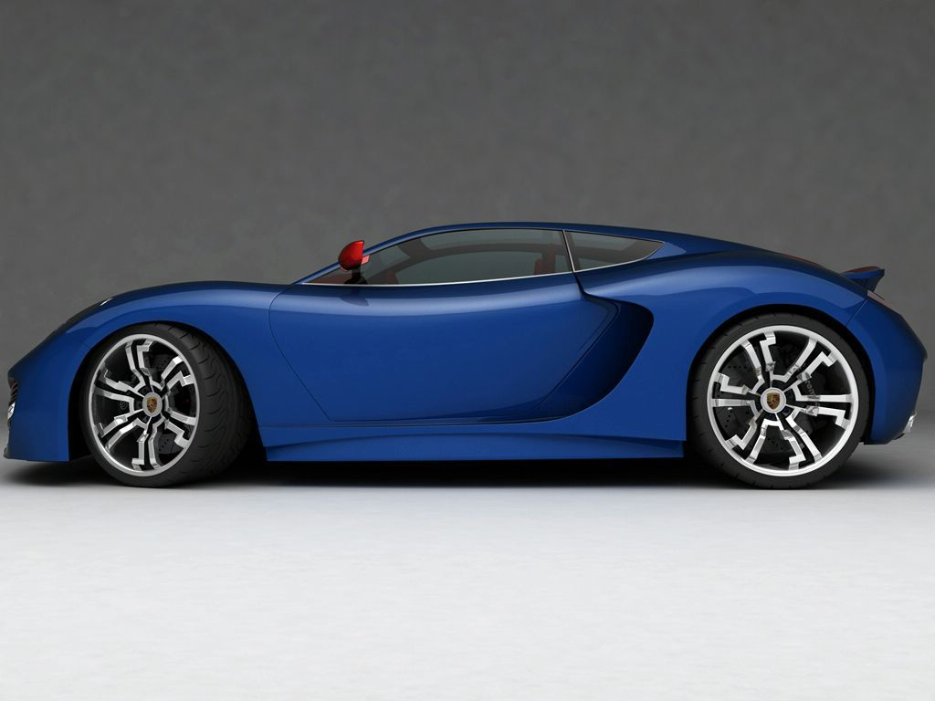 Blue Porsche Supercar Concept Super Cars Concept Cars Porsche