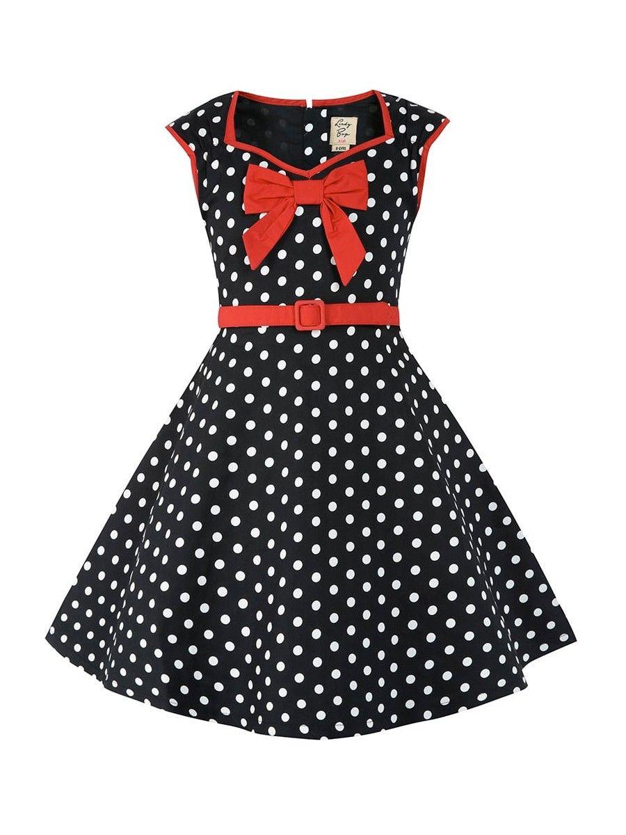 LINDY BOB Little Alanis schwarz/weiss Kinder Kleid