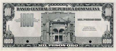 Dominican Republic Currency 1000 Gold Pesos Banknote Issued By The Banco Central De La Republica Domi Dominican Republic Currency Bank Notes Dominican Republic