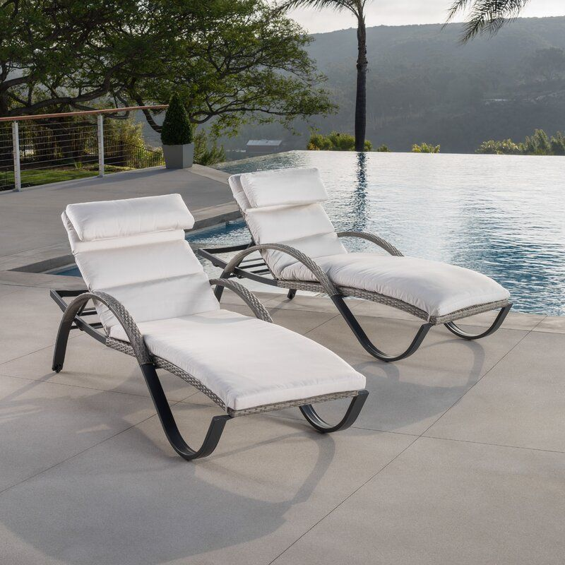 Best Online Store Castelli Sun Lounger Set With Cushions Set Of 2 Sun Lounger Outdoor Chaise Lounge Outdoor Chaise
