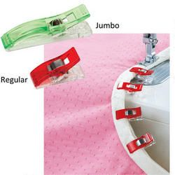 12pcs Sewing Craft Quilt Binding Plastic Wonder Clips Clamps Clear /& Red