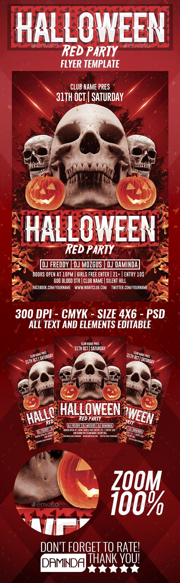 Halloween Red Flyer Template – Red Flyer Template