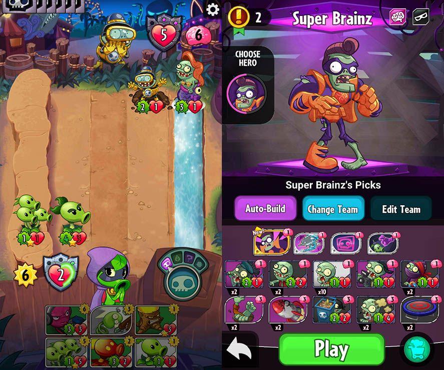 descargar plants vs zombies heroes hack apk