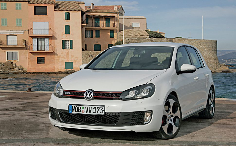 Vw Golf 6 White HD Wallpaper
