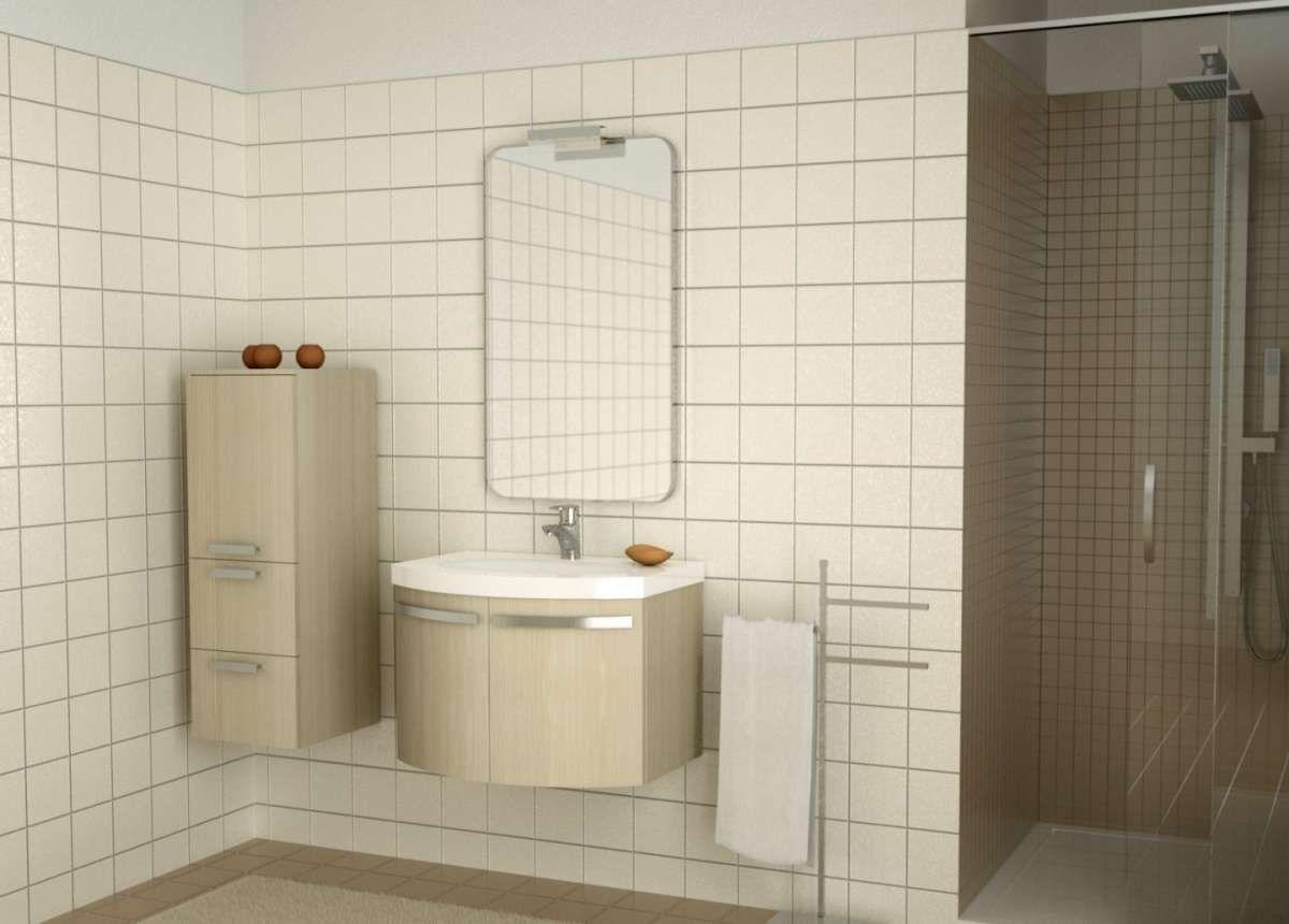 Arredare un bagno piccolo - Bagno piccolo con arredi beidge