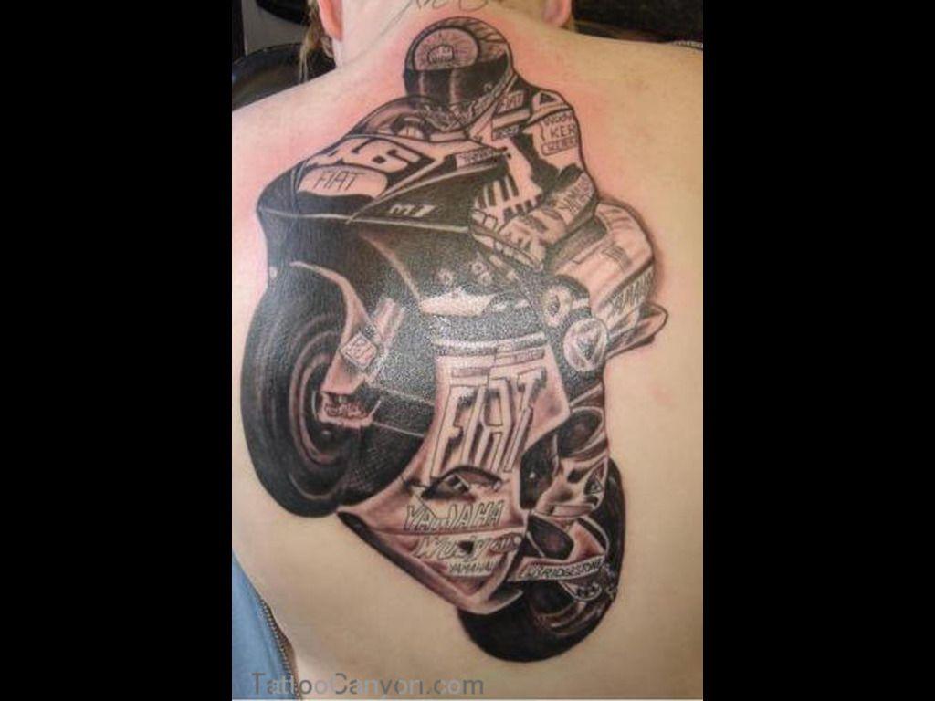 Motorcycle with biker tattoo - 11649 Racing Biker Tattoo Design Motorcycle Tattoo Design