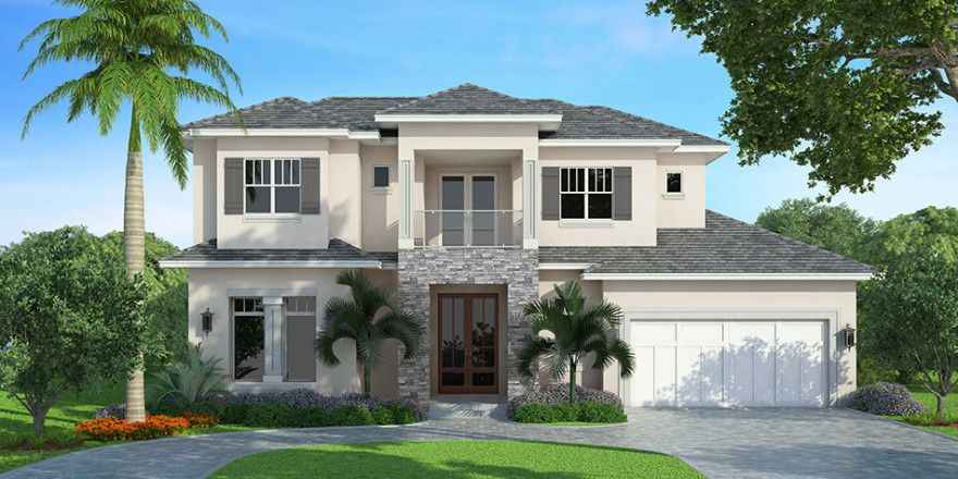 2 Story Mediterranean House Plan by South Florida Design   indian hp     2 Story Mediterranean House Plan by South Florida Design