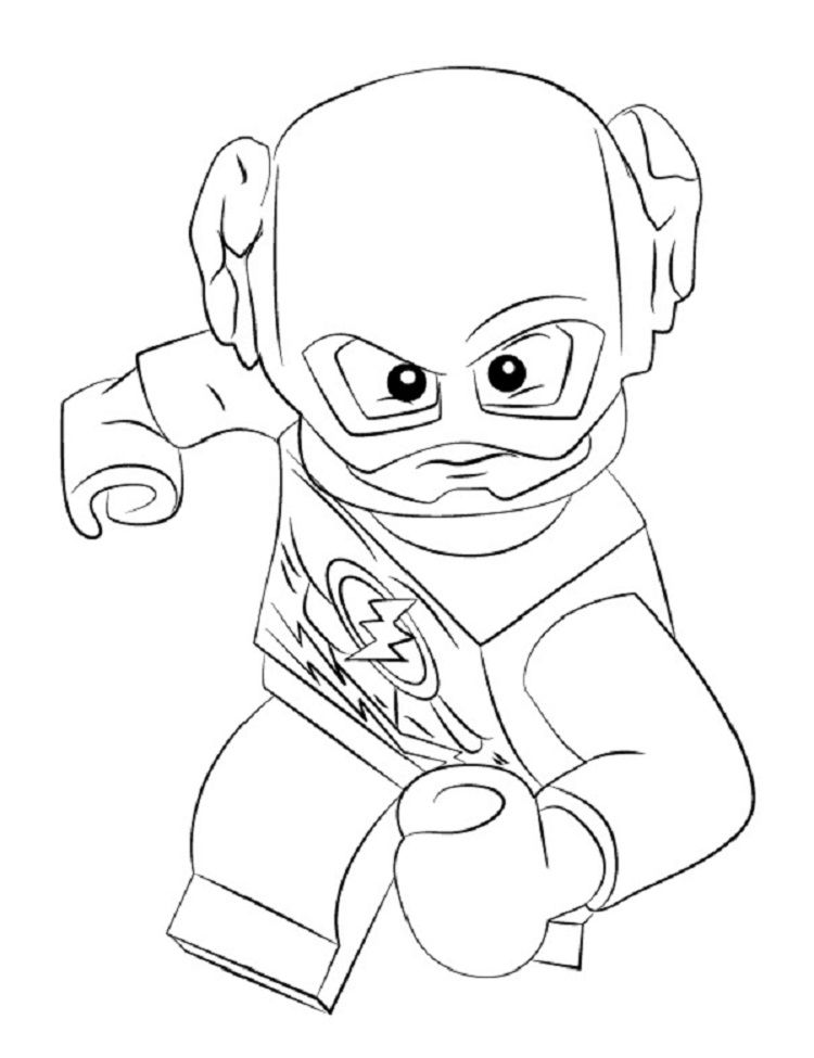 Lego Coloring Pages Kid Flash Check More At Http Coloringareas