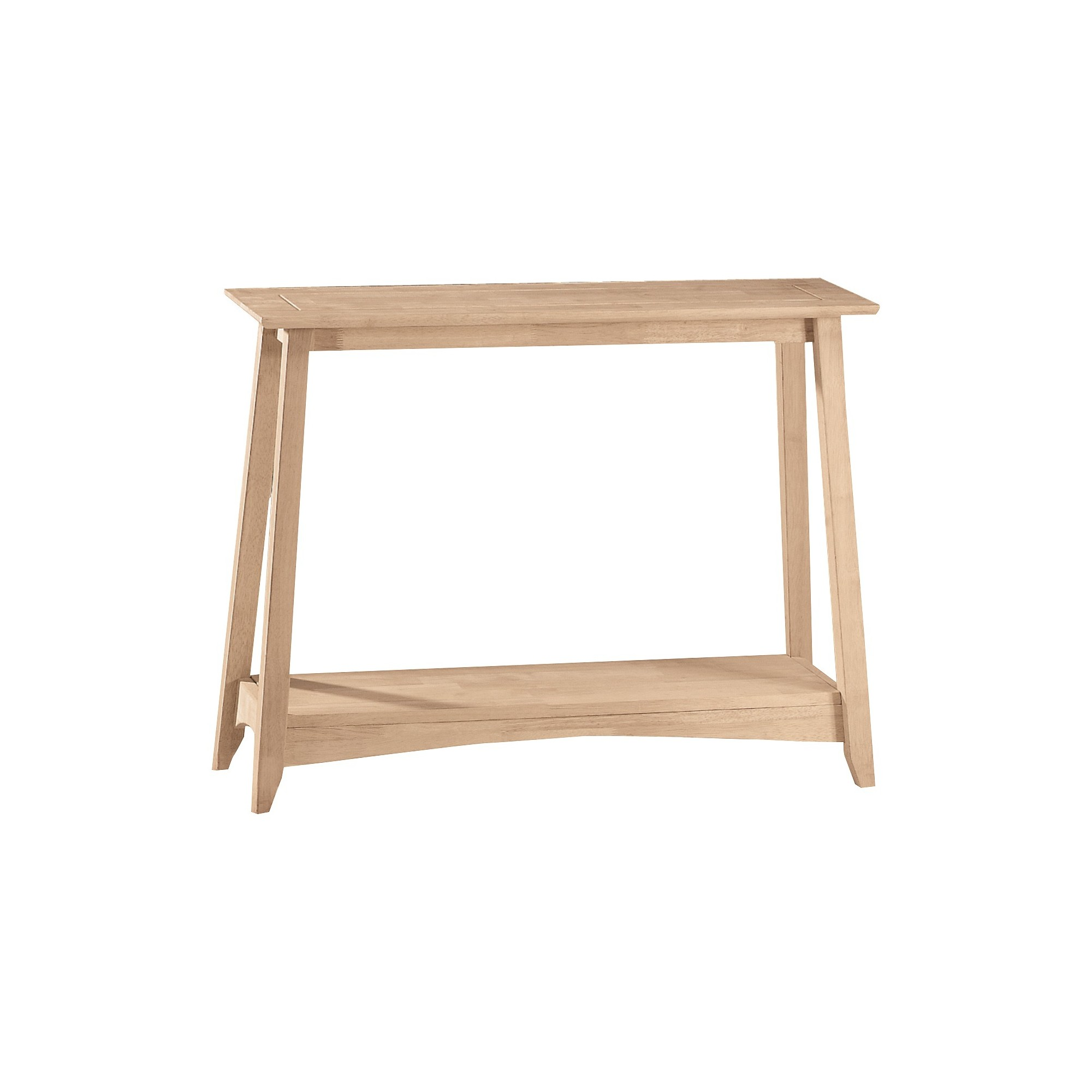 Shaker Console Table Unfinished International Concepts Console