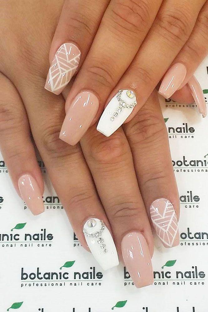 30 Cute Nail Design Ideas For Stylish Brides | Pinterest | Stylish ...