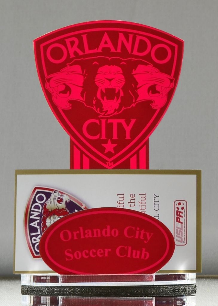 PBM Mirror Red M1400 Vintage Orlando City Soccer Business Card ...