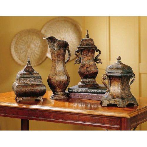 Mediterranean Kitchen Kirkland: Amazon.com: Set Of 4 Vintage Antique Style Decorative
