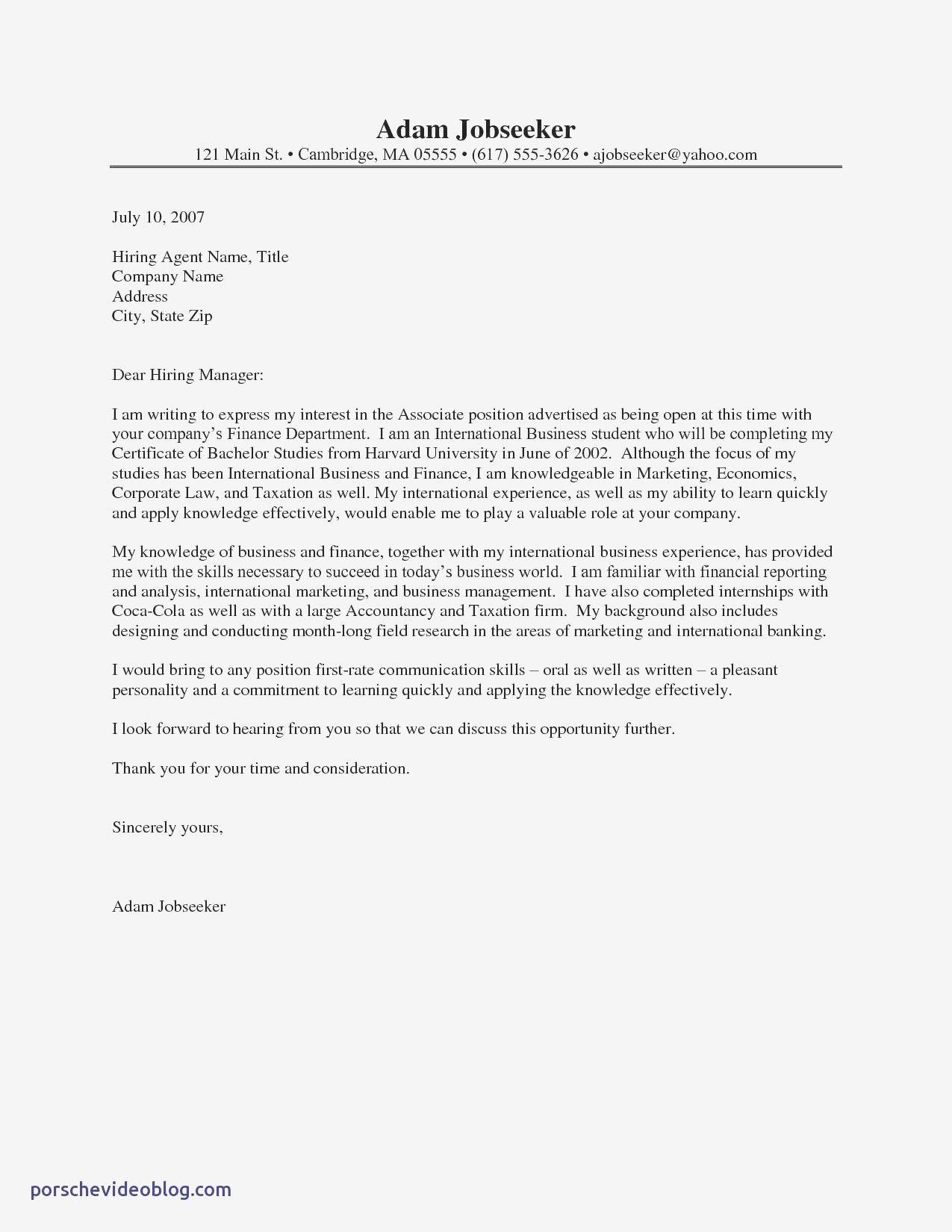 Download Inspirational A Sample Of Job Application Letter ...