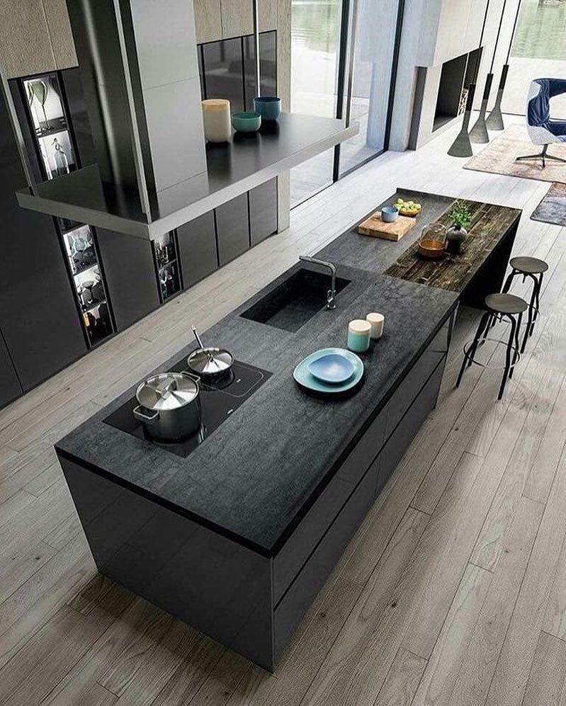 "Interior Design on Instagram: ""Rate this kitchen 1-10! . #kitchen #kitchendesign #design #decorating #cocina #roomdecor #decor #interior #designer #idea #project…"" #contemporarykitcheninterior"