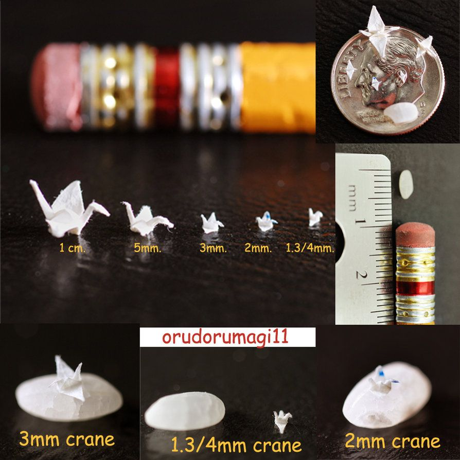 Miniature cranes 2 by ~orudorumagi11 on deviantART