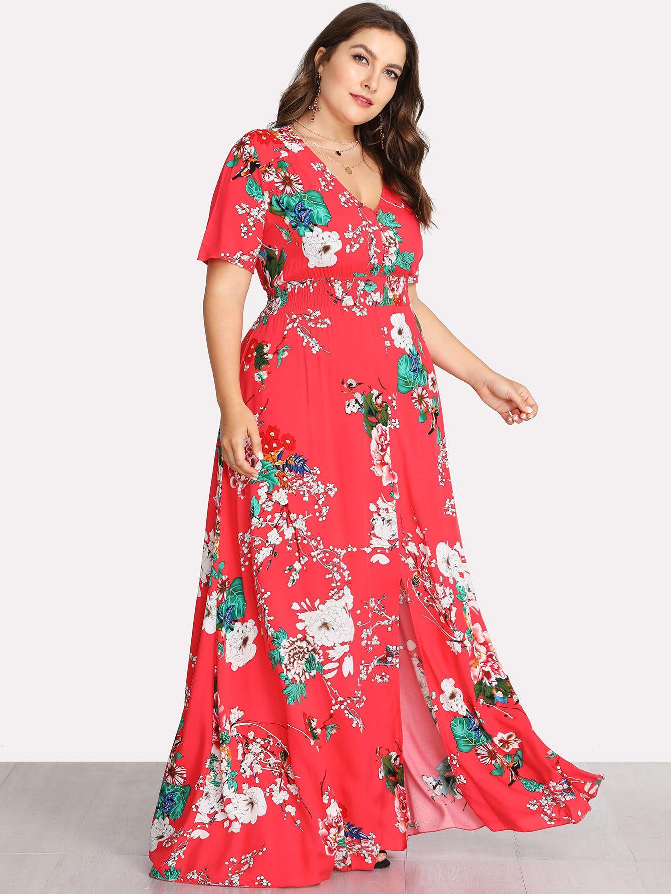shein maxi dresses plus size