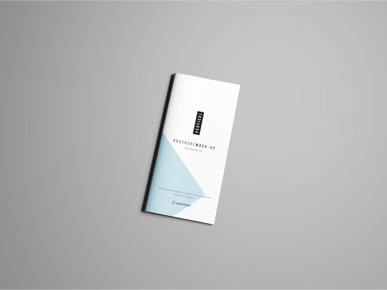 Vertical Brochure Mockup Psd Mockup, Free