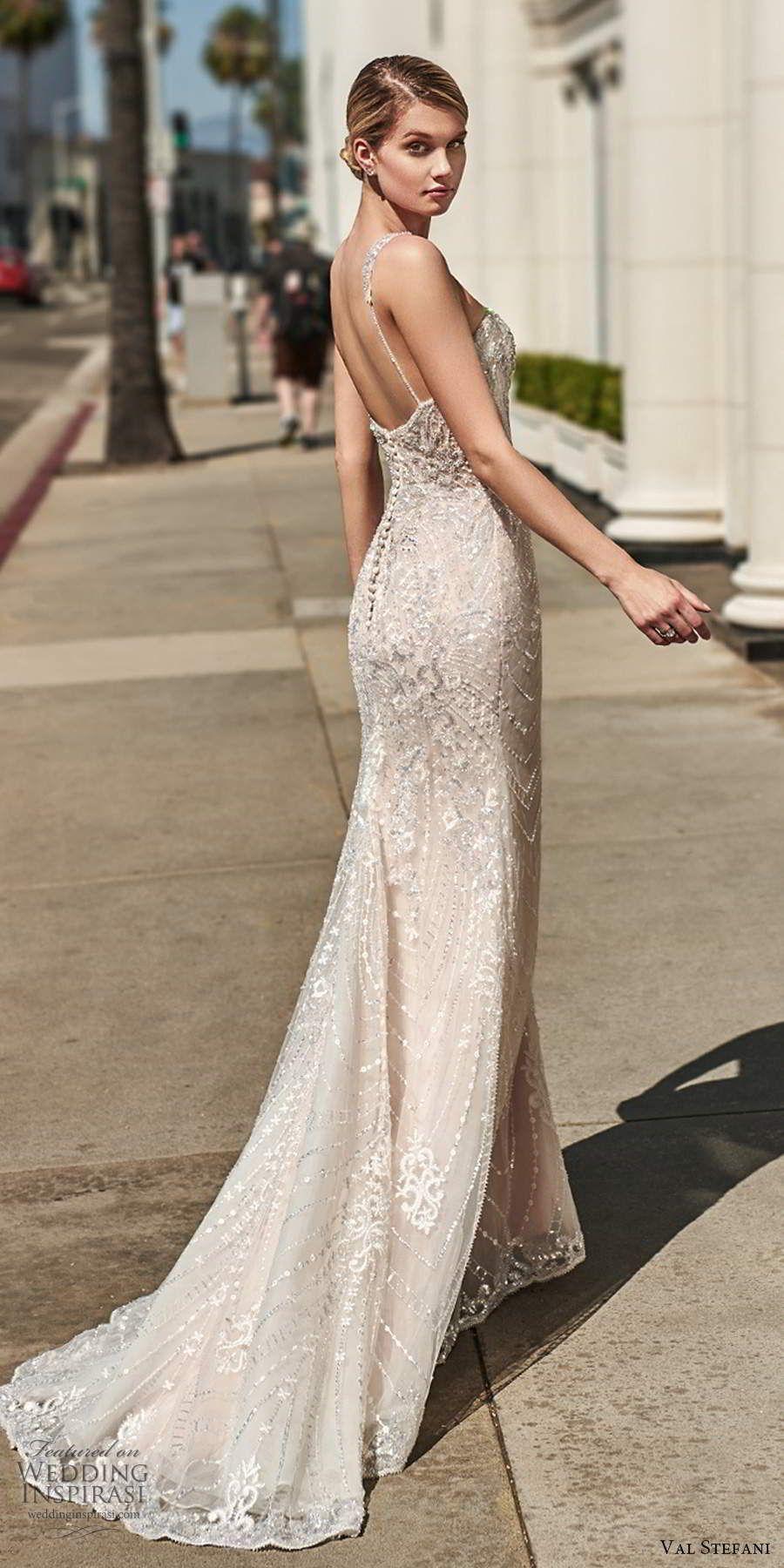 Weddinginspirasi.com featuring - val stefani spring 2020 bridal sleeveless beaded straps sweetheart...