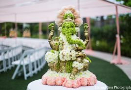 Photo of: indian wedding floral statue | MaharaniWeddings.com