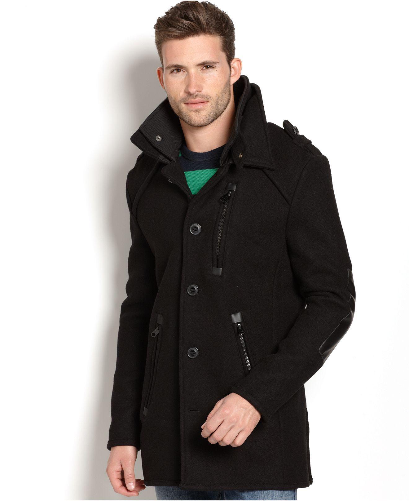 Buffalo David Bitton Jacket Janney Button Front Jacket Mens Coats Jackets Macy S Mens Fur Coat Jackets Mens Jackets [ 1616 x 1320 Pixel ]