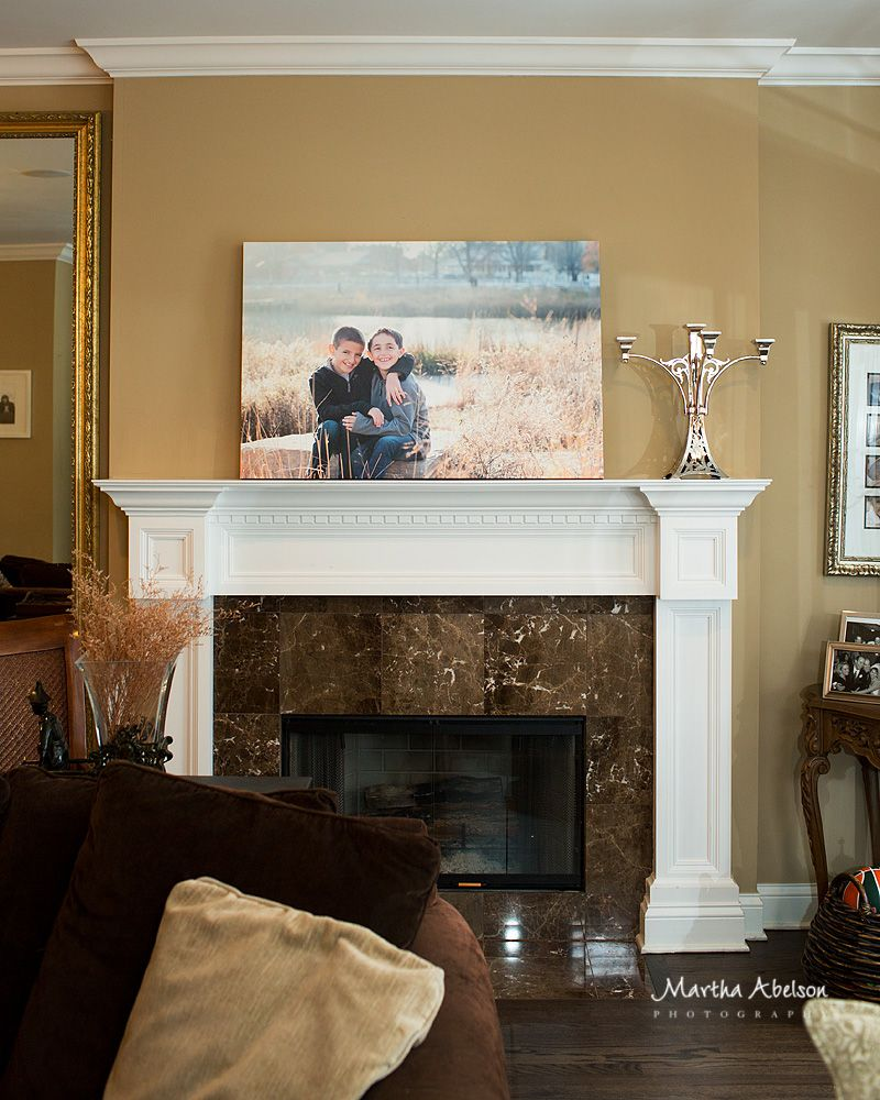 Canvas Over Fireplace Home Fireplace Fireplace Mantle D