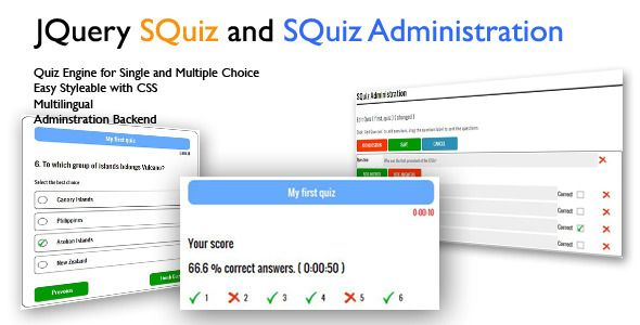 JQuery Ajax SQuiz Quiz Engine  This is a new online quiz engine - free quiz template