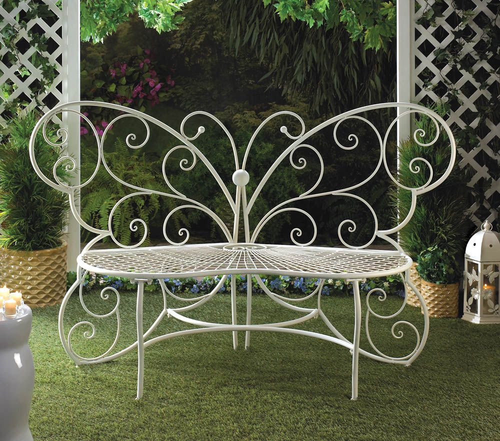 Butterfly Garden Bench Butterfly Garden Bench Garden Decor Decor Novelties At Wholesale Prices 10015688 Metal Garden Benches Outdoor Garden Bench Garden Bench