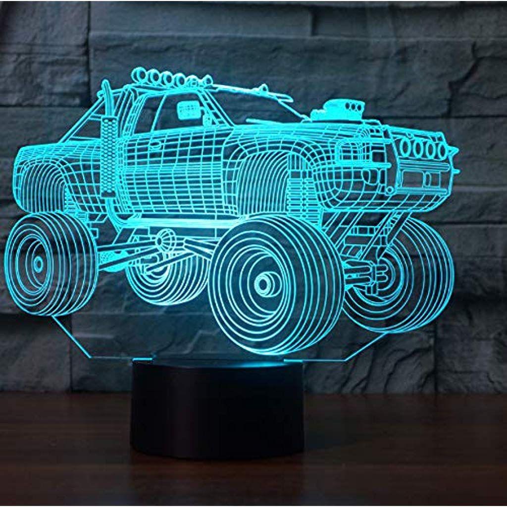 Auto Lkw Nachtlicht Schreibtisch Optische Tauschung Lampen 3d 7 Farbwechsel Lichter 5w Beleuchtung Innenbeleuchtung Leuchten Nachtlicht Lichter Farbwechsel