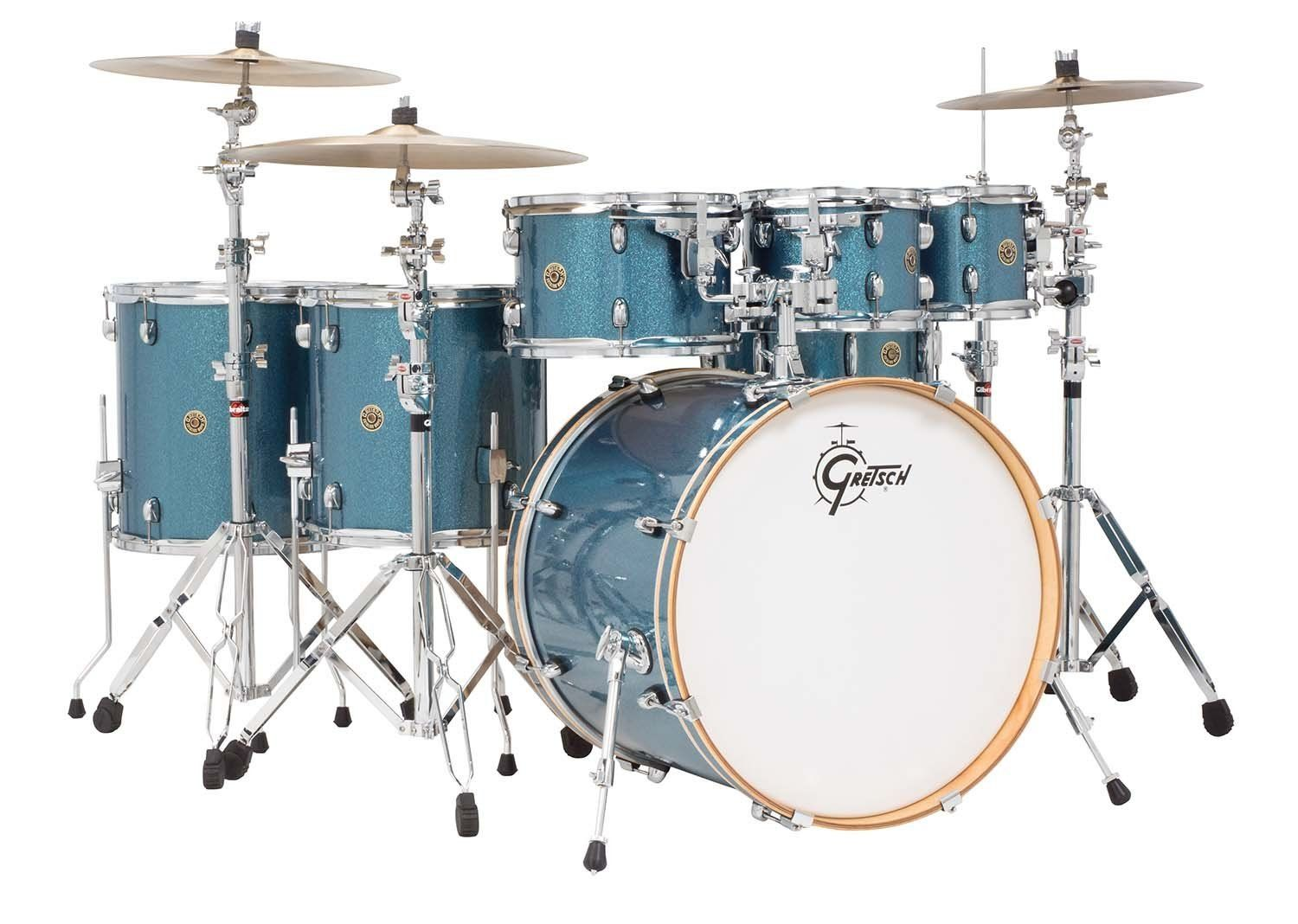 GRETSCH DRUMS CATALINA CM1-E826P-AS 6-PIECE DRUM SHELL PACK IN AQUA SPARKLE
