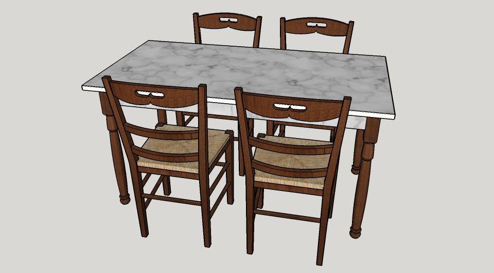 Sedie Da Cucina Impagliate.Tavolo Con Sedie Impagliate Tavolo E Sedie Sedia Impagliata Tavoli
