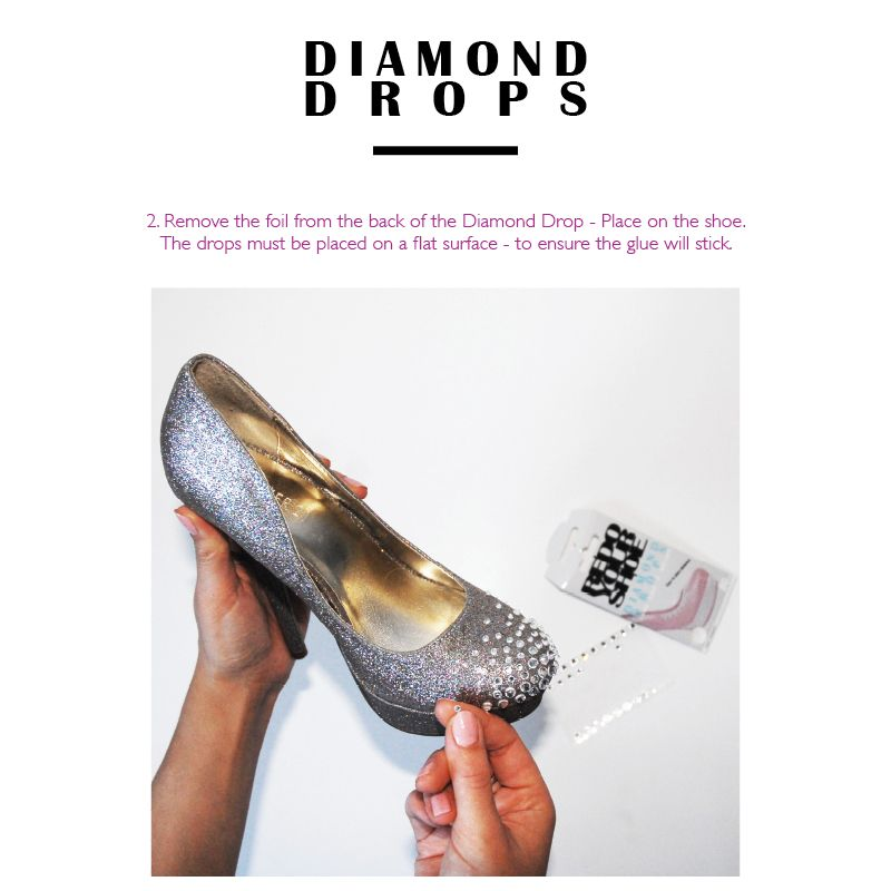 Redo Your Shoe Wedding Shoe Diamond Drops - Bridal Jewellery - Crystal Bridal Accessories