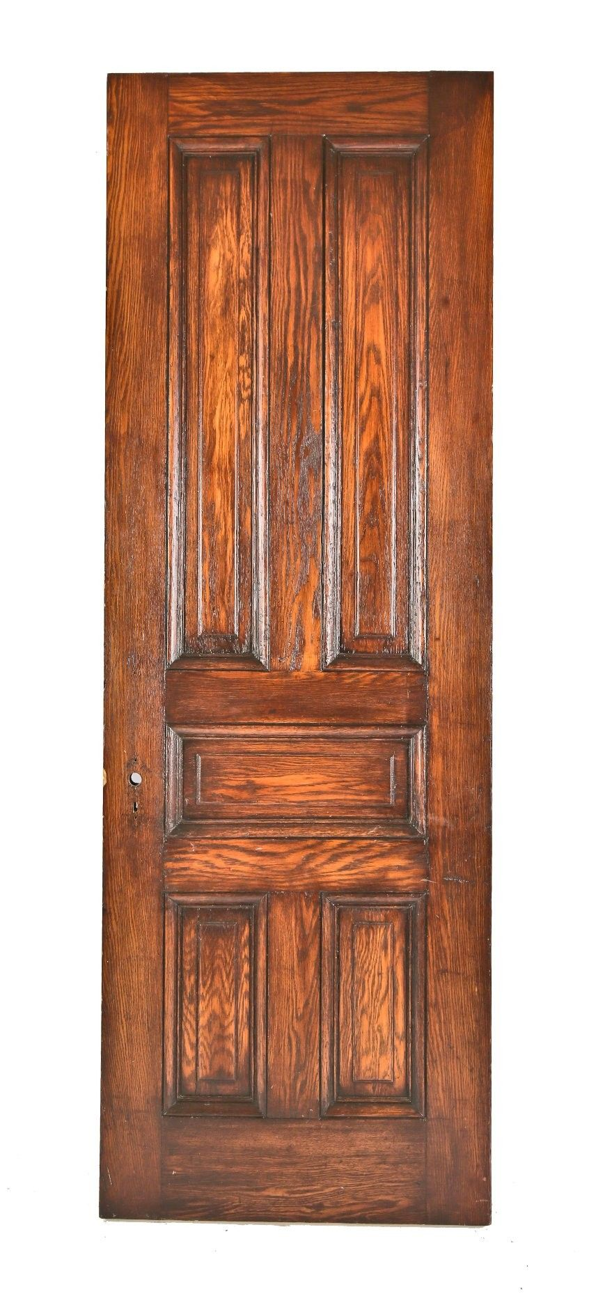 One Of Several Matching Original Varnished Oak Wood Interior Residential  Passage Doors Salvaged From An 1880u0027s