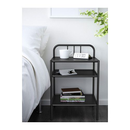 FYRESDAL Nightstand, black $44.99 Roll it to where you need it – just a little to the side or into another room. The casters make it a good choice next to beds with storage or pull-out beds. Coordinates perfectly with FYRESDAL daybed. Size 17 3/4x15 ""