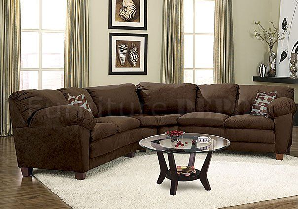 Delicieux Colors That Go With A Chocolate Colored Couch | Brown Micro Suede Casual Sectional  Sofa W