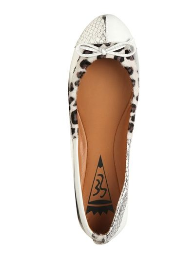 88dceccf65f EE BY ERNESTO ESPOSITO - 10MM METALLIC LEATHER AND PONY FLATS ...