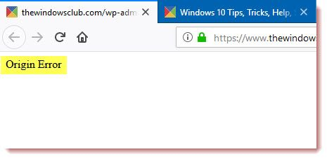 This post shows how to fix Origin Error  While this is a very
