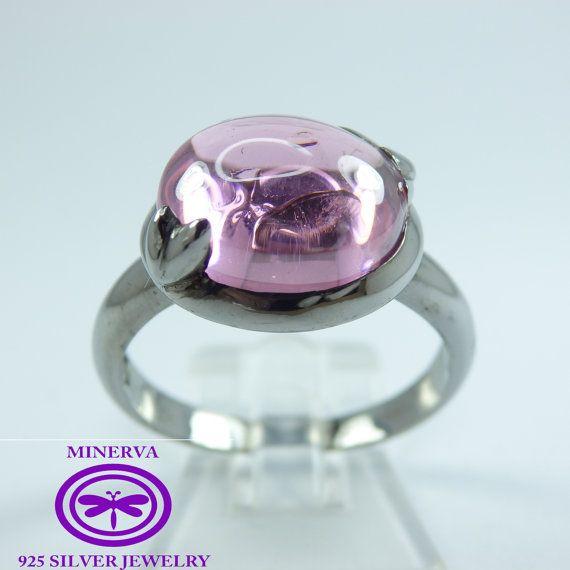 1 plata anillo zircon liz por MinervaSilverJewelry en Etsy