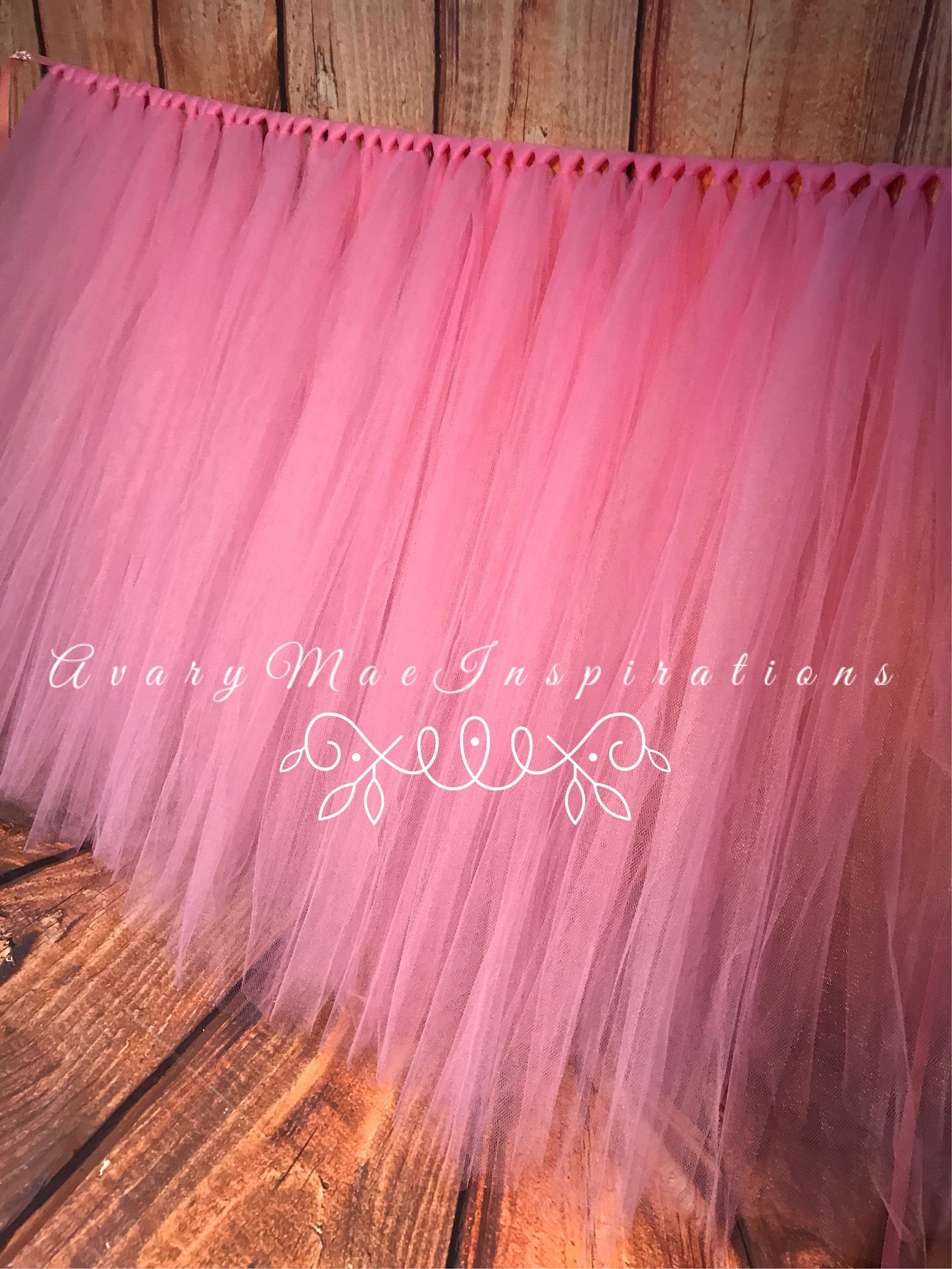 Pink Tulle Tutu Table Skirt