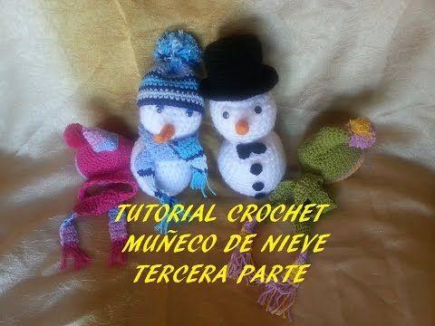 Tutorial muñeco de nieve (sombrero copa, pajarita y botones) tercera parte - YouTube