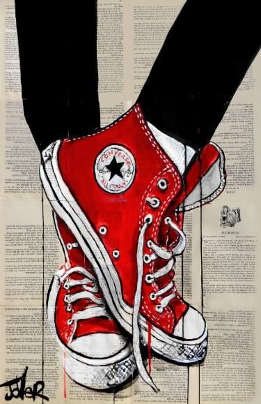 "Saatchi Art Artist Loui Jover; Drawing, ""red"" #art"