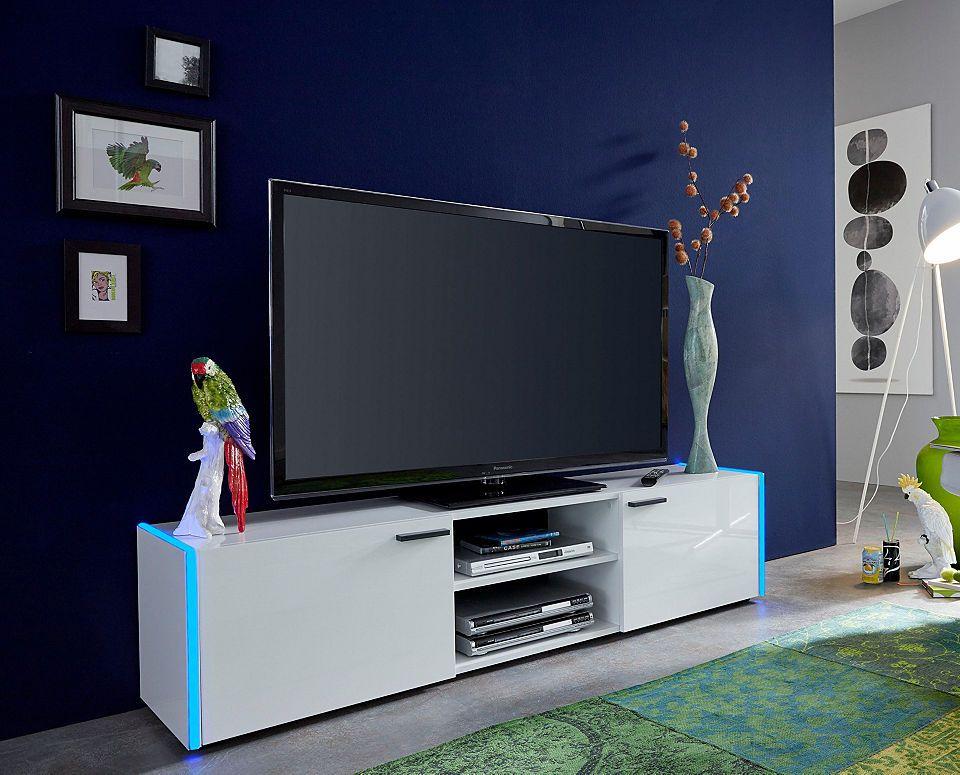 Lowboard »Shark«, Breite 160 cm, inkl RGB-Beleuchtung Jetzt - wohnzimmer ideen fernseher