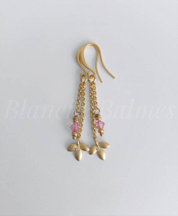 8330ddf49c368 VELMA • Minimal Chain Gold Earrings   Products   Gold earrings ...