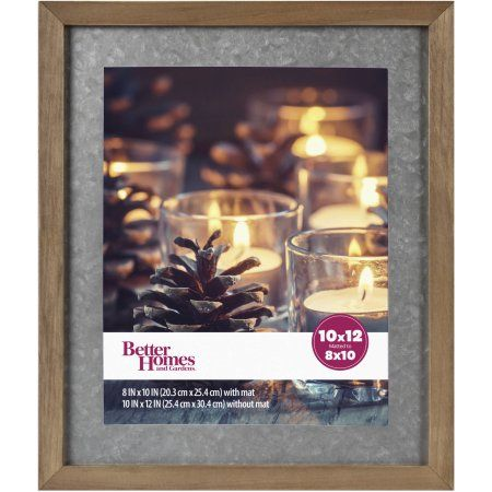 Better Homes And Gardens Gallery Wood Picture Frame With Galvanized