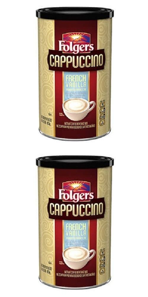 Folgers Cappuccino French Vanilla Instant Coffee Beverage Mix 16 Oz Mocha Chocolate Instant Coffee Chocolate Cappuccino