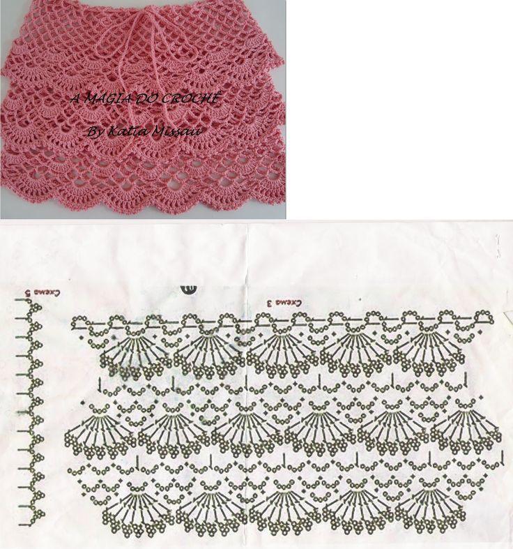 Tambor?jumu sh?mas (crochet schemes) | Crochet | Pinterest | Falda ...
