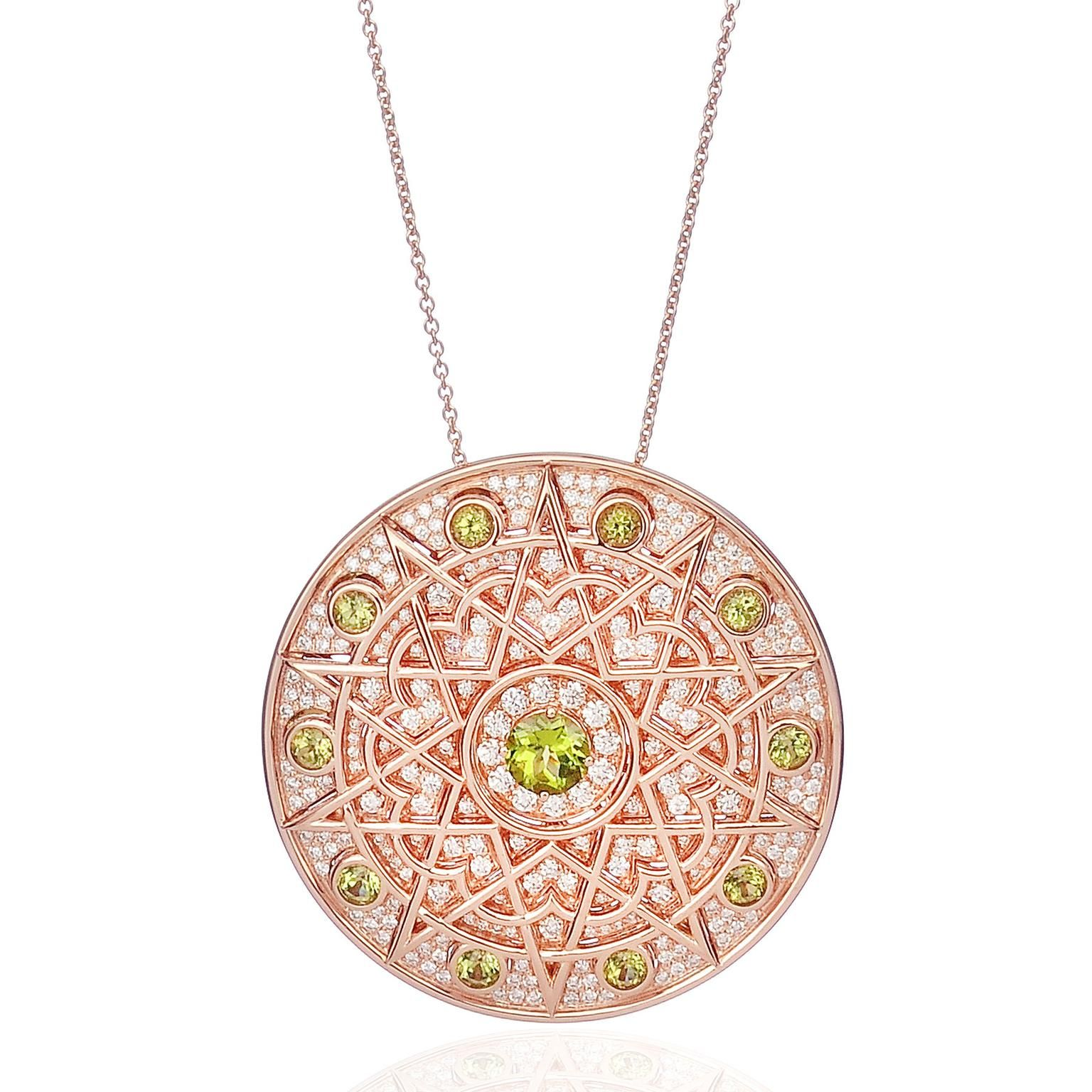 Damali peridot and diamond pendant necklace harvey nichols