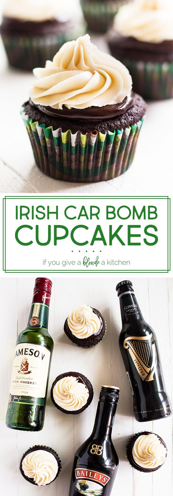 Irish Car Bomb Cupcakes #cupcakesrezepte