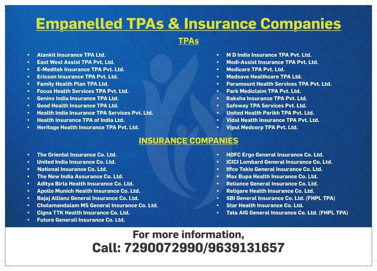 Empanelled Tpas Insurance Companies Www Venkateshwarhospitals